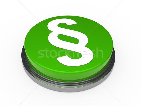 Absatz Taste grünen chrom weiß Symbol Stock foto © dariusl