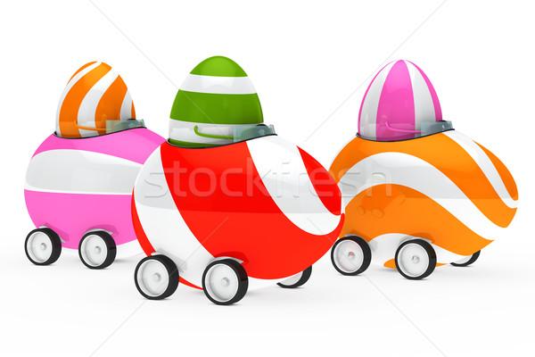 Stok fotoğraf: Paskalya · yumurtası · anlamaya · renkli · oturmak · araba · Paskalya