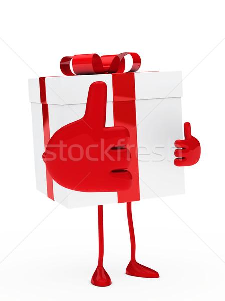 Navidad regalo rojo blanco Foto stock © dariusl