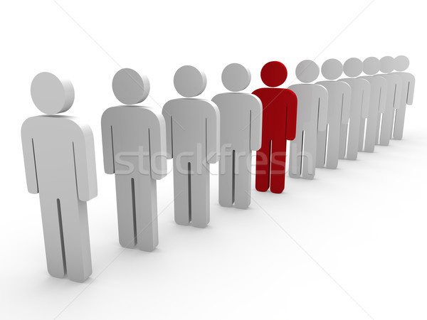 3D chef d'équipe patron société rouge travail d'équipe Photo stock © dariusl
