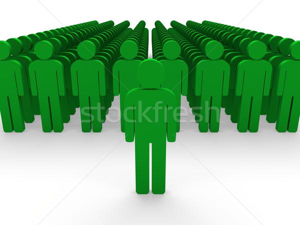 3d green team group  Stock photo © dariusl