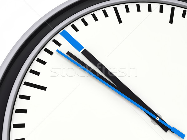 Stock photo: 3d time blue