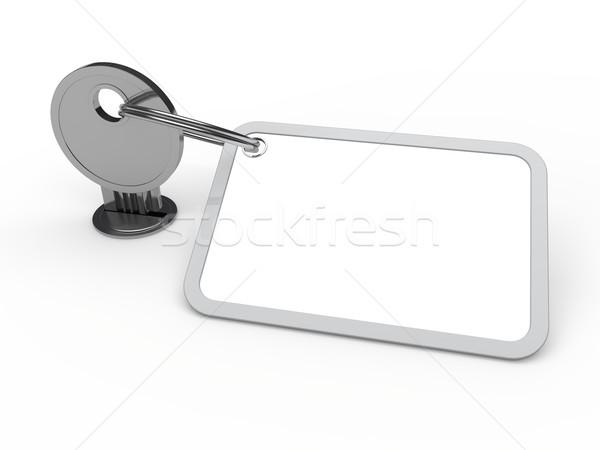 3D clave adjunto cromo etiqueta Foto stock © dariusl