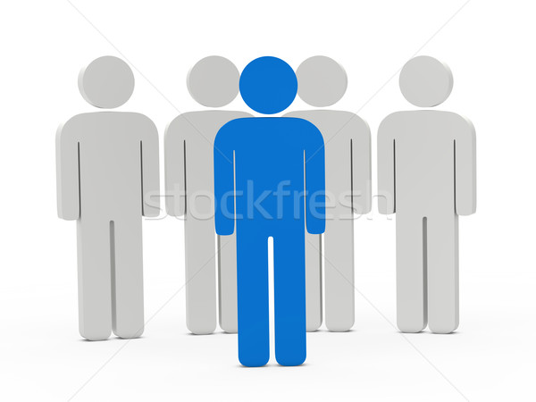 3d man leadership blue Stock photo © dariusl