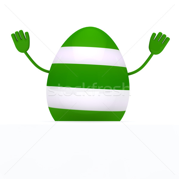 Colorful egg wave hands Stock photo © dariusl
