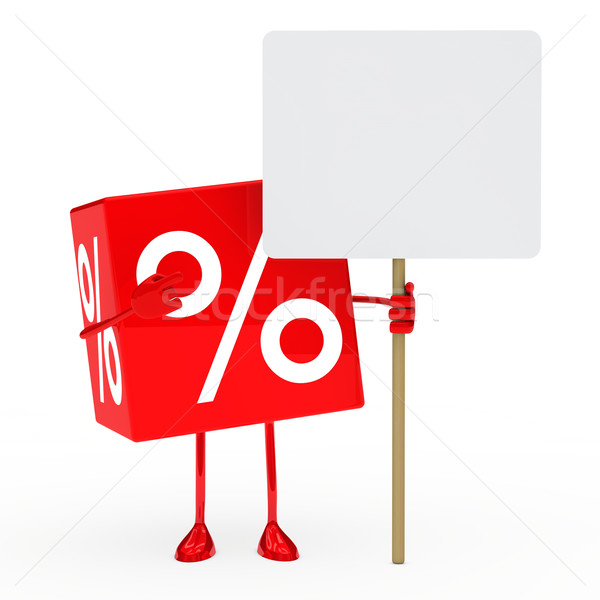 red sale cube billboard Stock photo © dariusl