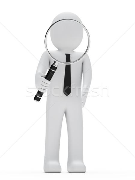 Photo stock: Affaires · loupe · Rechercher · recherche · affaires · verre