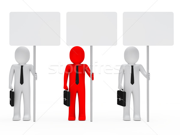 businessmen hold signboard Stock photo © dariusl