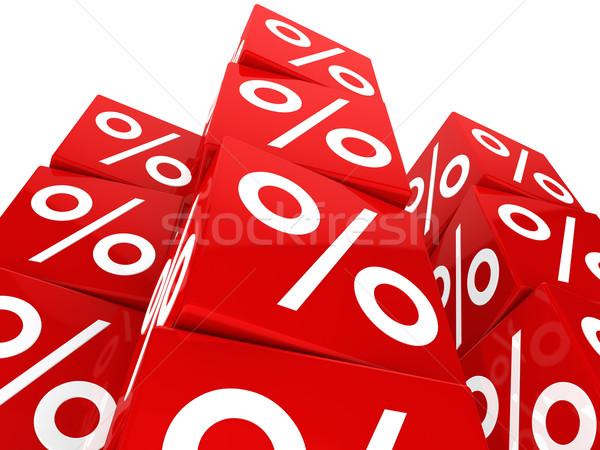 red sale cube tower Stock photo © dariusl