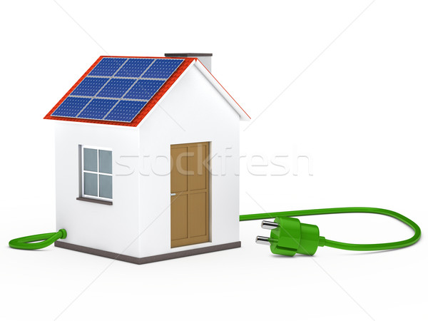 solar house with plug Stock photo © dariusl