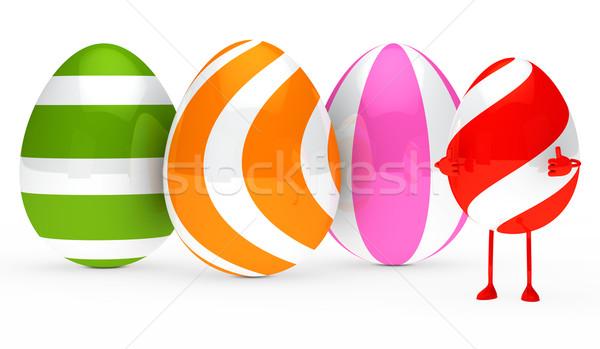Stock photo: easter egg figure