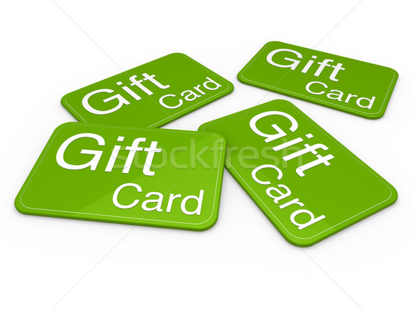 3D tarjeta de regalo verde celebración saludo venta Foto stock © dariusl