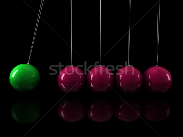 3d green pink pendulum Stock photo © dariusl