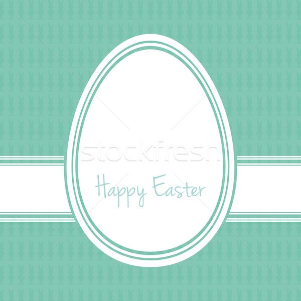 happy easter egg white green Stock photo © dariusl