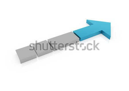 3d blue gray arrow high right Stock photo © dariusl