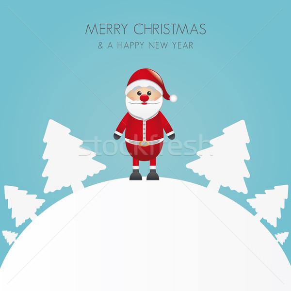 Bäume weiß Welt Weihnachtsbaum Baum Stock foto © dariusl