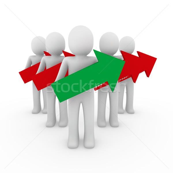 3次元の男 矢印 赤 緑 高い ビジネス ストックフォト © dariusl