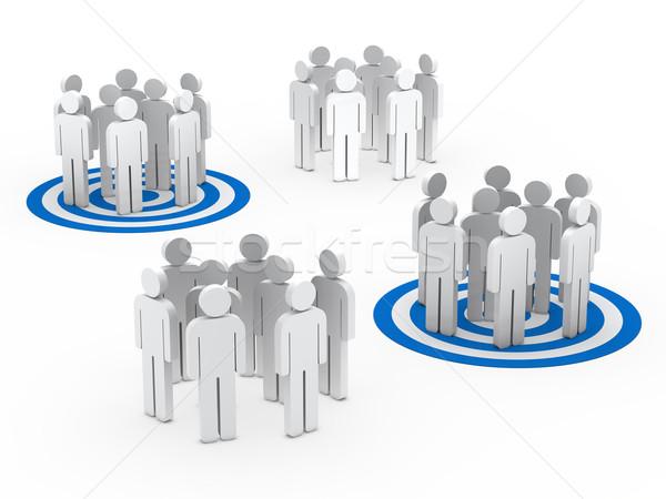 teamwork group circle blue tarbet Stock photo © dariusl