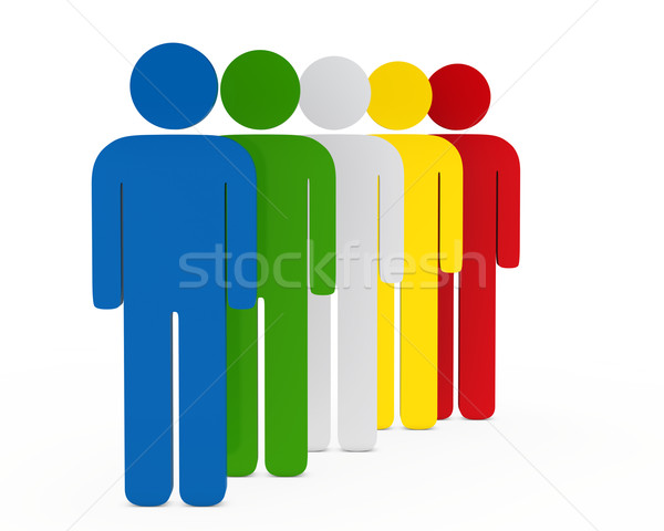 figure colorful team Stock photo © dariusl