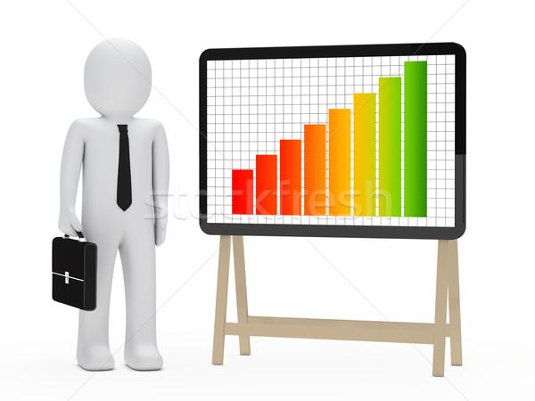 businessman signboard graph Stock photo © dariusl