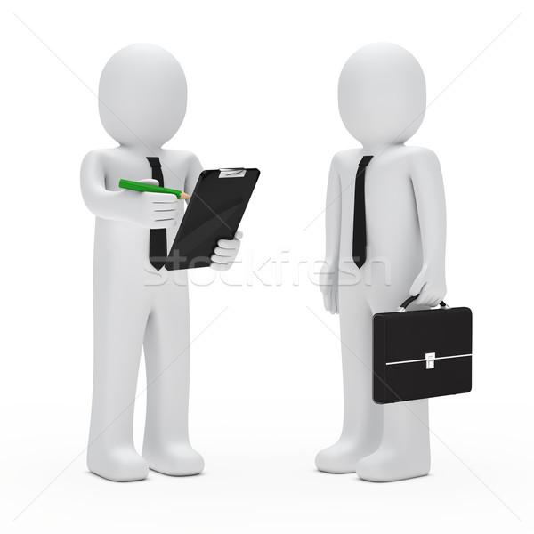 Biznesmen teczki utrzymać farbują Zdjęcia stock © dariusl