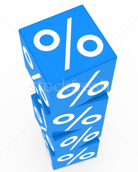 blue sale cubes tower Stock photo © dariusl