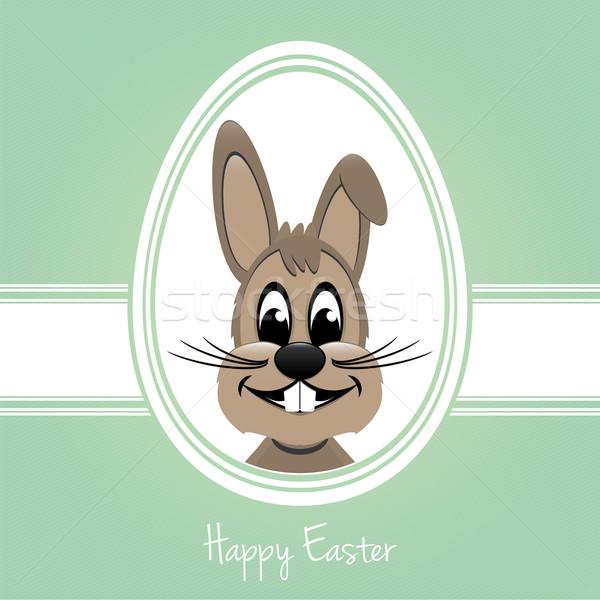 happy easter bunny white egg Stock photo © dariusl