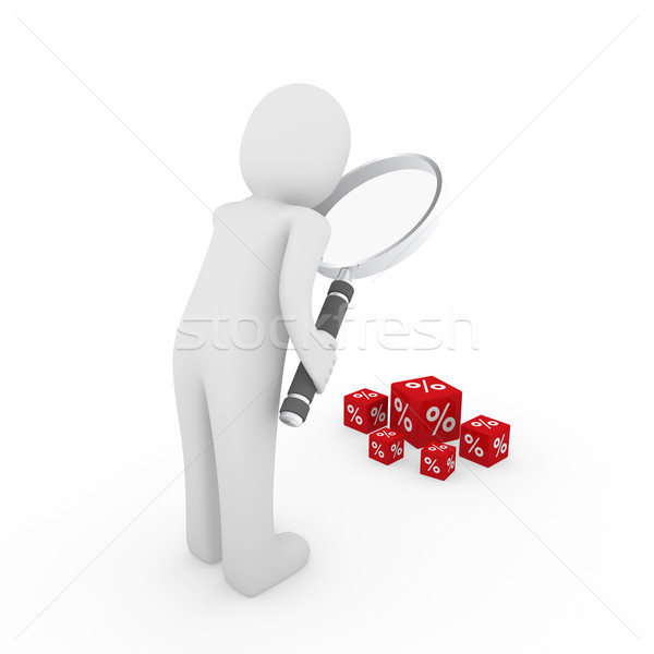 Stock photo: 3d man search sale