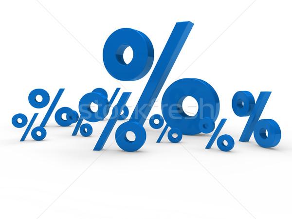 3D kék vásár százalék felirat ár Stock fotó © dariusl