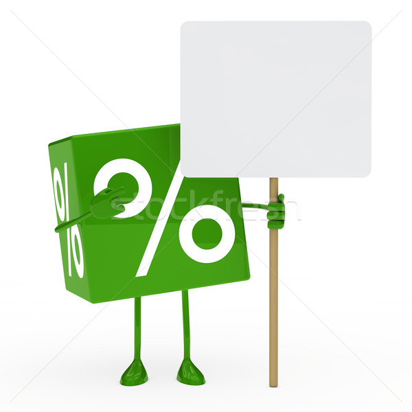 green sale cube billboard Stock photo © dariusl