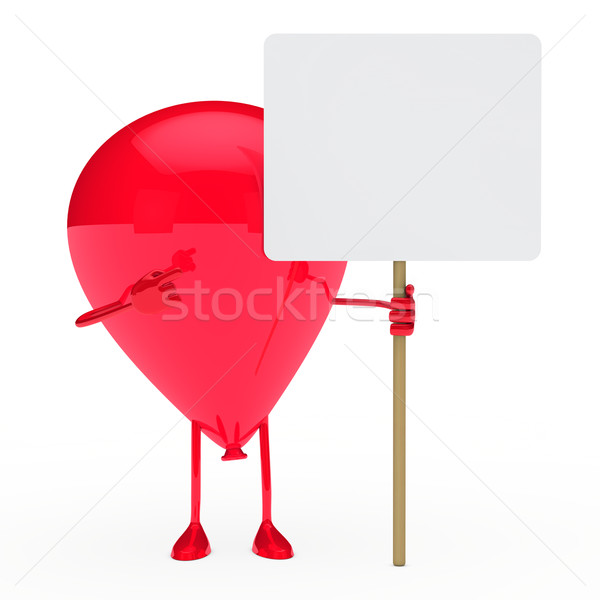 ballon hold billboard Stock photo © dariusl
