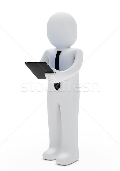 businessman tablet Stock photo © dariusl