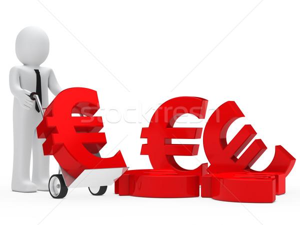 businessman euro sign Stock photo © dariusl
