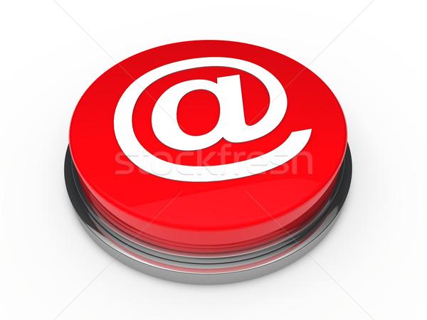 Foto stock: 3D · botão · e-mail · vermelho · e-mail · internet