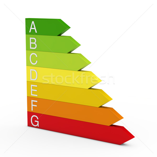 3d energy bar efficiency  Stock photo © dariusl