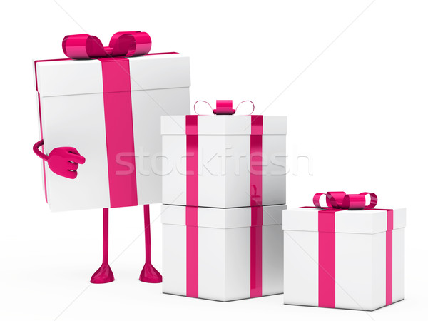 gift box figure point Stock photo © dariusl