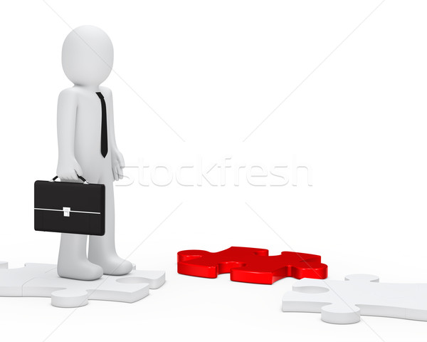 businessman jisaw way Stock photo © dariusl