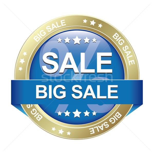 big sale blue gold button isolated Stock photo © dariusl