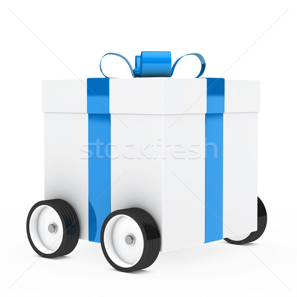 christmas gift vehicle Stock photo © dariusl