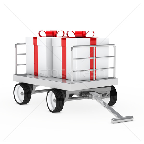 christmas gift trolley Stock photo © dariusl