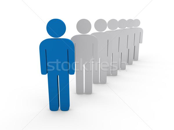 3D chef d'équipe patron société bleu travail d'équipe Photo stock © dariusl