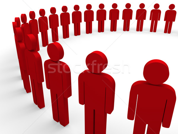 3d team circle red  Stock photo © dariusl