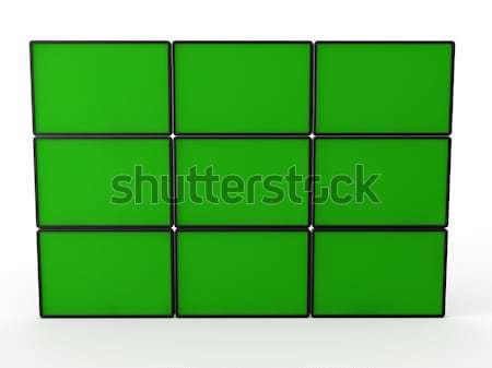 3d flat lcd wall Stock photo © dariusl
