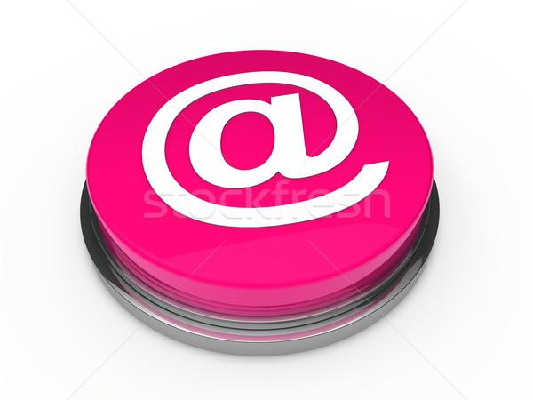 3d button email pink Stock photo © dariusl
