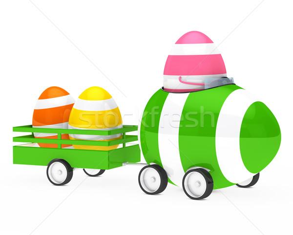 Húsvéti tojás alkat autó húsvét tojás narancs Stock fotó © dariusl