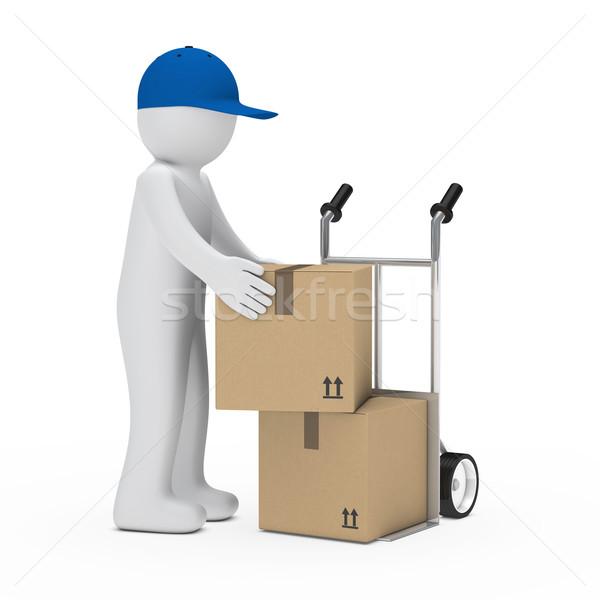 Figura cargar paquete mano camión mail Foto stock © dariusl