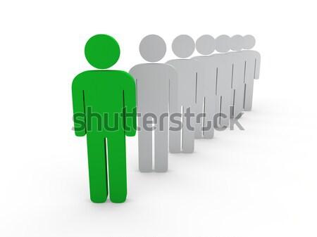 3D teamleider baas bedrijf groene teamwerk Stockfoto © dariusl
