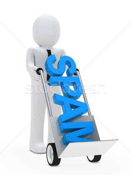 businessman hand truck spam Stock photo © dariusl
