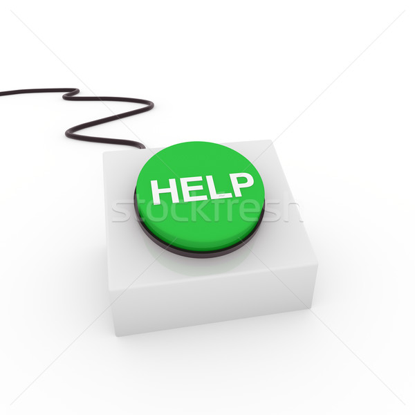 Stock photo: 3d button help