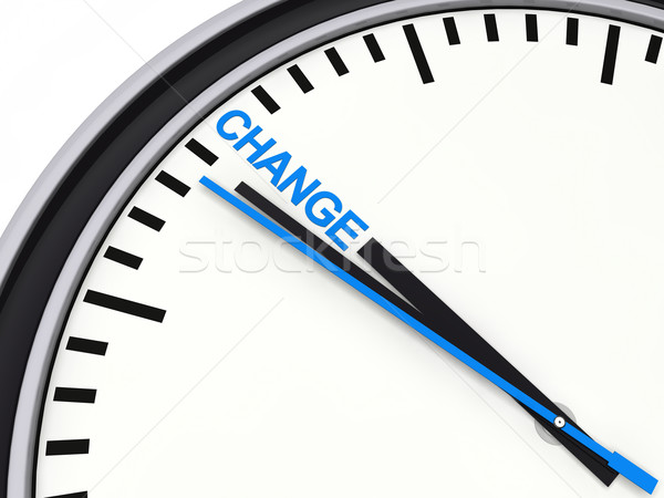3d clock time change Stock photo © dariusl